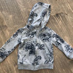 Joe Fresh floral zip up hoodie 3T